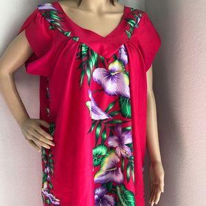SOLD Vintage Tamare Tropical Hawaiian House Dress